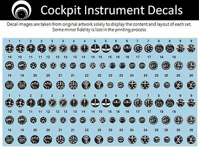 airscale US Navy Cockpit Instrument Dial decals - 1/32 scale AS32 USN