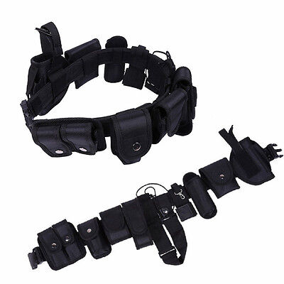 Police Security Guard Modular Law Enforcement Tactical Equipment Belt System