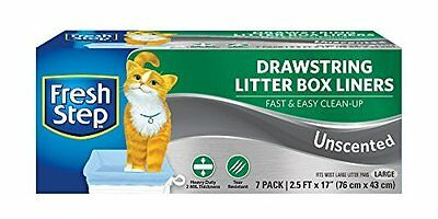 Fresh Step - Large Litter Box Liners Unscented- 7pk