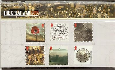 GB 2016 The Great War 1916 Stamps in P/ Pack PP500 (no. 527) - Error SALE PRICE
