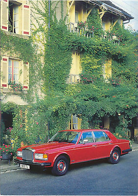 Bentley Eight Red Saloon 1985 colour Postcard