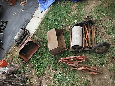 2 Antique Shawnee Scout Greens Mowers & Accessories Shown est from the 1910-20's