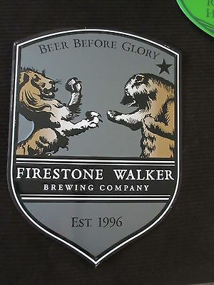 Firestone Walker Beer Metal Bar Tin Sign Beer Before Glory Lion vs Bear QTY