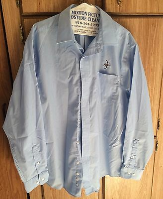 Blood & Oil - Production Made Prop Briggs Oil Shirt! Don Johnson! Chase Crawford