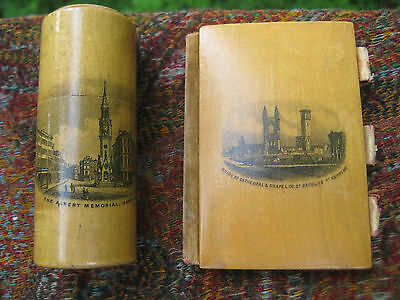 Antique Mauchline Ware Sewing Needle Cases St Andrews And Hastings