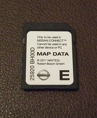 Genuine Nissan 2011 Sat Nav SD Card (Qashqai,Juke,Note,Micra)  for CONNECT 1