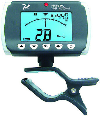 Profile Clip on Electric or Acoustic Guitar Tuner & Metronome PMT-3500