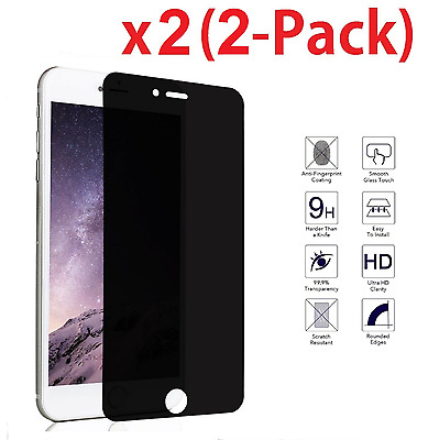 """Privacy Anti-Spy REAL Tempered Glass Screen Protector for 5.5"""" iPhone 7 Plus"""