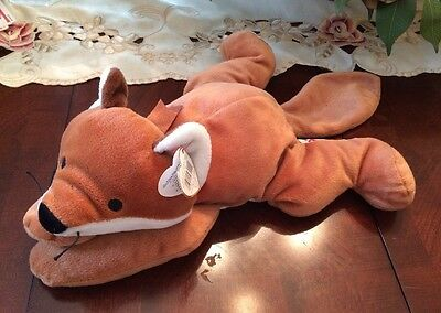 FOXY PILLOW PAL * BROWN  * TY  Beanie Babies Baby MWMT