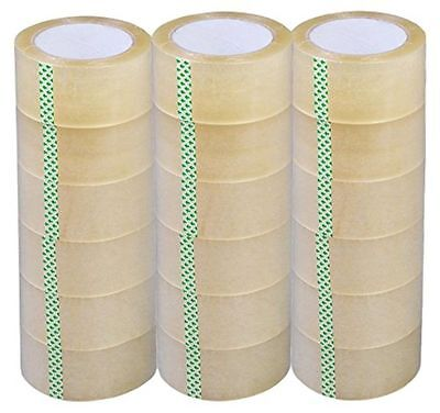"New 18 Rolls-2""x110 Yards(330' ft) Box Carton Sealing Packing Package Tape"