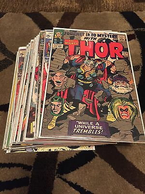 Thor Lot of 24 Comic Books Between 123 and 194