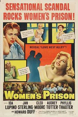 WOMEN'S PRISON Movie POSTER 27x40 Ida Lupino Jan Sterling Cleo Moore Audrey