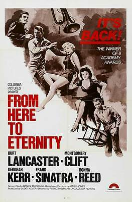 FROM HERE TO ETERNITY Movie POSTER 27x40 B Burt Laner Montgomery Clift Frank