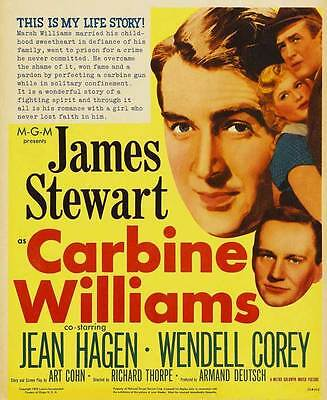 CARBINE WILLIAMS Movie POSTER 27x40