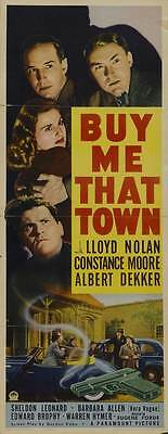 BUY ME THAT TOWN Movie POSTER 14x36 Insert