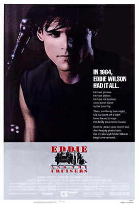 EDDIE AND THE CRUISERS Movie POSTER 27x40 B Tom Berenger Michael Pare Ellen
