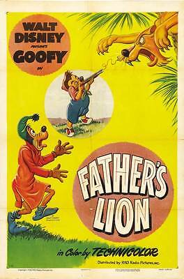 FATHER'S LION Movie POSTER 27x40