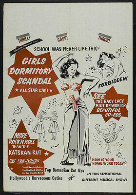 GIRLS DORMITORY SCANDAL Movie POSTER 27x40