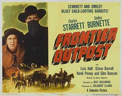 FRONTIER OUTPOST Movie POSTER 22x28 Half Sheet