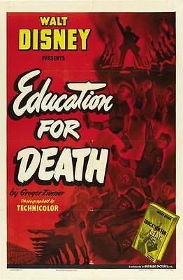 EDUCATION FOR DEATH Movie POSTER 27x40