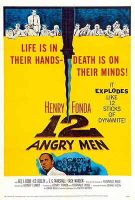 12 ANGRY MEN Movie POSTER 27x40
