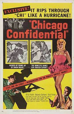CHICAGO CONFIDENTIAL Movie POSTER 27x40 Brian Keith Beverly Garland Dick Foran