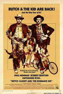 BUTCH CASSIDY AND THE SUNDANCE KID Movie POSTER 27x40 Paul Newman Robert Redford