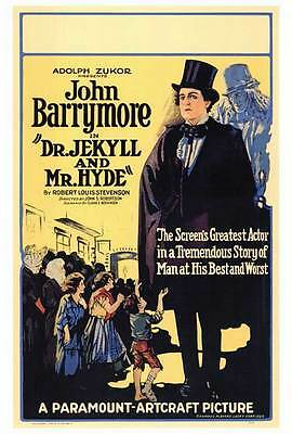 DR. JEKYLL AND MR. HYDE Movie POSTER 27x40 B John Barrymore Martha Mansfield
