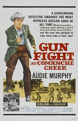 GUNFIGHT AT COMANCHE CREEK Movie POSTER 27x40 Audie Murphy Ben Cooper Coleen