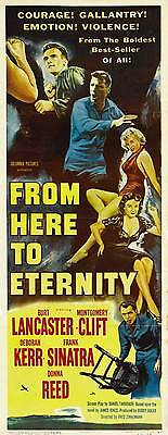 FROM HERE TO ETERNITY Movie POSTER 14x36 Insert B Burt Laner Montgomery Clift