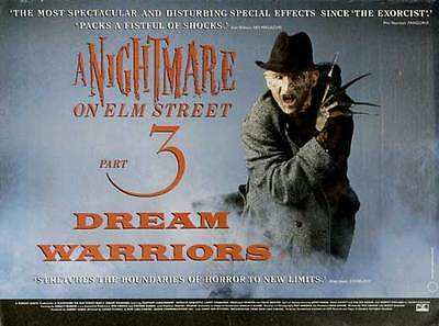 A NIGHTMARE ON ELM STREET 3: DREAM WARRIORS Movie POSTER 30x40 UK Patricia
