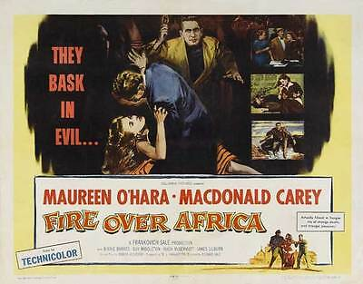 FIRE OVER AFRICA Movie POSTER 22x28 Half Sheet