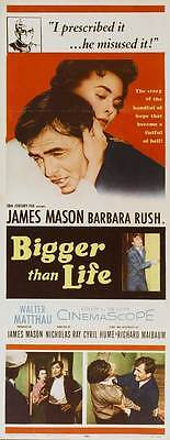 BIGGER THAN LIFE Movie POSTER 14x36 Insert James Mason Barbara Rush Walter