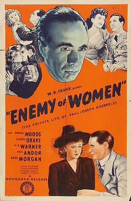 ENEMY OF WOMEN Movie POSTER 27x40