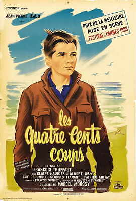 THE 400 BLOWS Movie POSTER 27x40 French B Francois Truffaut Jean-Pierre Leaud