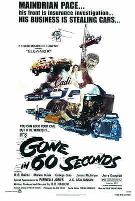GONE IN 60 SECONDS Movie POSTER 27x40 H.B. Halicki Marion Busia George Cole