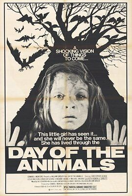 DAY OF THE ANIMALS Movie POSTER 27x40 B Christopher George Leslie Nielsen Lynda