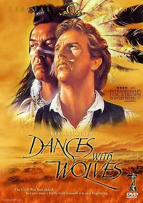 DANCES WITH WOLVES Movie POSTER 27x40 E Kevin Costner Mary McDonnell Graham