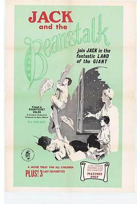JACK AND THE BEANSTALK Movie POSTER 27x40 Animation