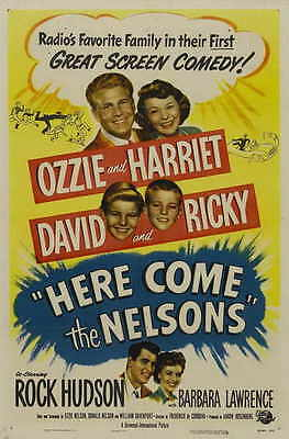 HERE COME THE NELSONS Movie POSTER 27x40 Ozzie Nelson Harriet Hilliard Nelson