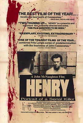 HENRY: PORTRAIT OF A SERIAL KILLER Movie POSTER 27x40 Michael Rooker Tom Towles
