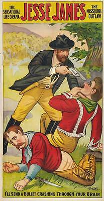JESSE JAMES AS THE OUTLAW Movie POSTER 27x40