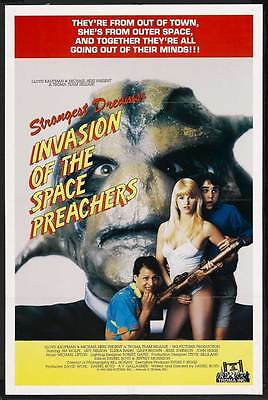 INVASION OF THE SPACE PREACHERS Movie POSTER 27x40
