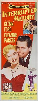 INTERRUPTED MELODY Movie POSTER 14x36 Insert Glenn Ford Eleanor Parker Roger