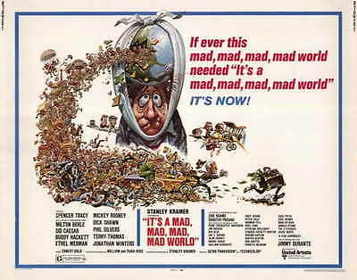 IT'S A MAD MAD MAD MAD WORLD Movie POSTER 22x28 Half Sheet Spencer Tracy Sid