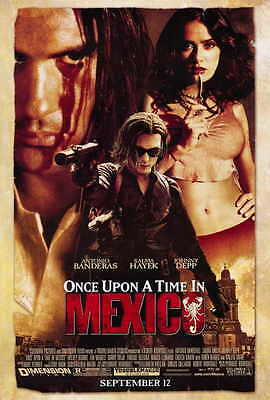 ONCE UPON A TIME IN MEXICO Movie POSTER 27x40 Antonio Banderas Salma Hayek