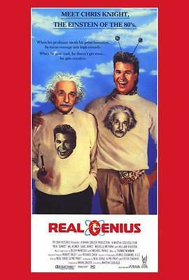 REAL GENIUS Movie POSTER 27x40 B Val Kilmer Gabe Jarret Jonathan Gries Michelle