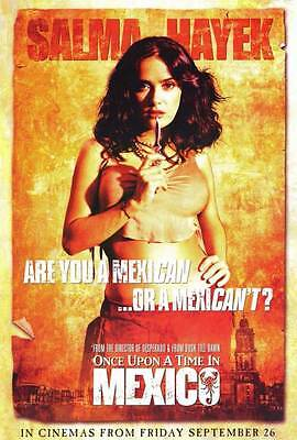 ONCE UPON A TIME IN MEXICO Movie POSTER 27x40 B Antonio Banderas Salma Hayek