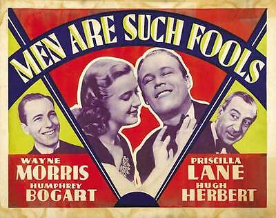 MEN ARE SUCH FOOLS Movie POSTER 22x28 Half Sheet B