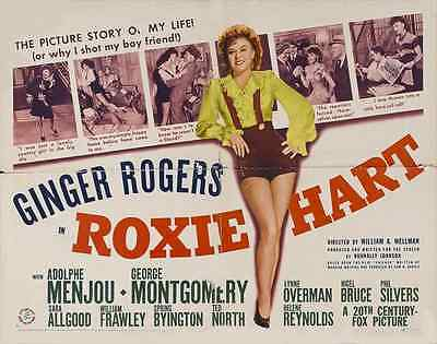 ROXIE HART Movie POSTER 30x40 Ginger Rogers Adolphe Menjou George Montgomery